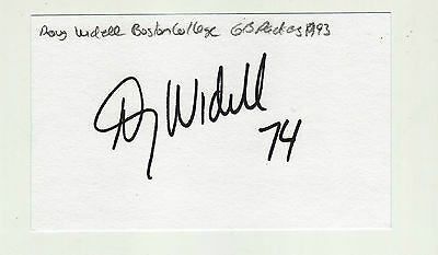 Doug Widell Autographed Green Bay Packers 1993  Index Card Boston College
