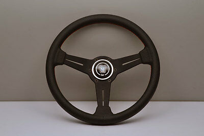 NEW Genuine Nardi ND Classic Steering Wheel - Leather with Red Stitching 330mm