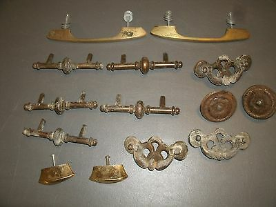 Vintage Drawer Pull Steampunk Handle Industrial Hardware Parts Wall ART Lot # 13