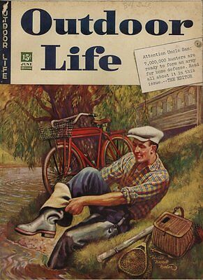 June 1942 Outdoor Life Hunting & Fishing Magazine - Great Condition