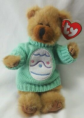 Ty Attic Treasures Collection Cody the Bear Wearing Pastel Green with Easter Egg