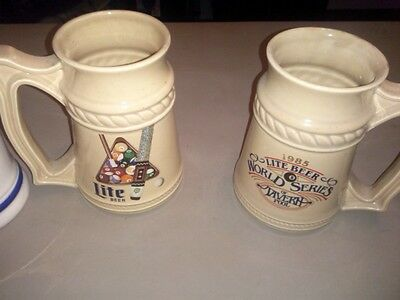 Vintage Miller Lite Steins And One High Life In Euc There Are 4 Total
