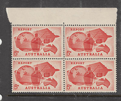 1965 5d Export Block of 4 with margin  MINT UNHINGED