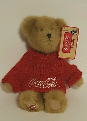 Coca-Cola Boyd's Plush Light Brown Johnny Bear With Red Sweater