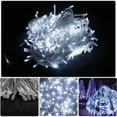 White 500 LED 100M XMAS Garden Party Fairy String Lights Indoor Outdoor 328 Feet