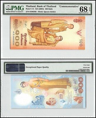 Thailand 100 Baht, ND 2004, P-111, Queen Sirikit, Commemorative, PMG 68