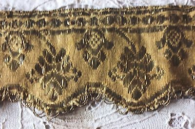 Antique 18thC Spanish Gold Metallic Hand Woven Braid/Trim~Ecclesiastical