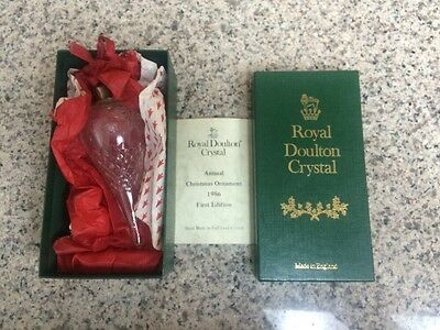 Royal Doulton Crystal Ornament 1986, Hand Made Lead Crystal Limited 1st. Edition