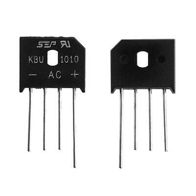 10Pcs Single Phases Diode Bridge Rectifier KBU1010 KBU-1010 10A 1000V IC Chip
