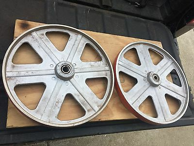 """Delta Rockwell 14"""" Band Saw Wheels Upgraded Silicon Tires Great Bearings Bandsaw"""