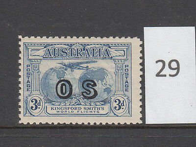 1931 3d Blue Kingsford Smith with OS overprint MLH