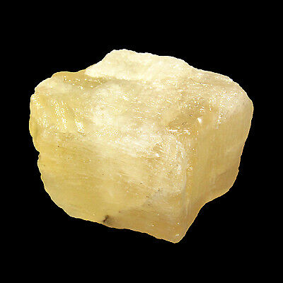 132.00Cts. Natural Untreated Fluorite Yellow Brazil Rough Loose stone-CH 4266