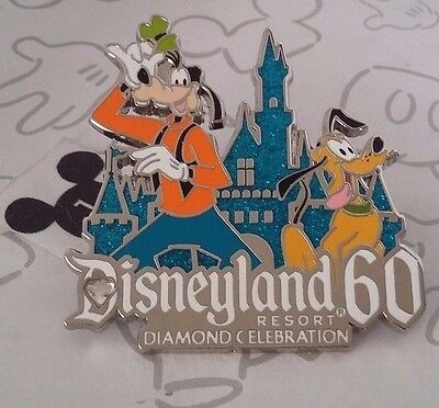 Goofy & Pluto Disneyland 60th Diamond Celebration Costco Disney Pin Buy 2 Save $