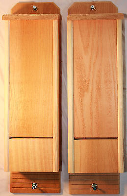 2 Double Chamber Cedar Bat Houses Hand Crafted Natural Pest Control