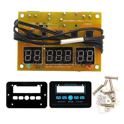 DC 12V Digital LED Temperature Controller 10A Thermostat Control Switch + Probe