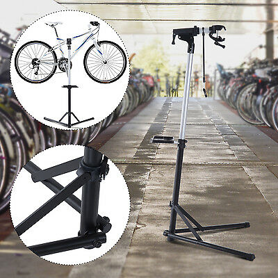 HOMCOM Bicycle Bike Repair Maintenance Rack Adjustable Stand Mechanic Aluminum