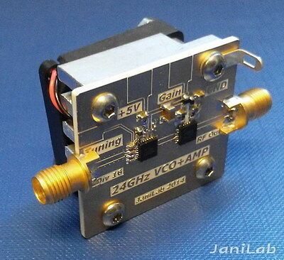 24GHz VCO + Amplifier 0.5Watt Output Microwave K band