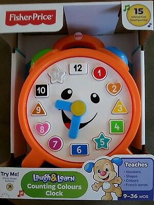 Fisher Price laugh and learn counting colours clock