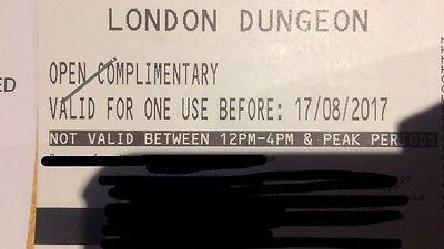 4 Adult London Dungeons tickets