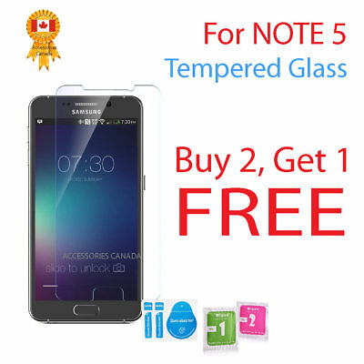 Tempered Glass Screen Protector High Clarity & Touch Samsung Galaxy Note 5 Phone