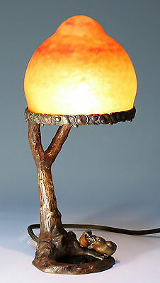French Artnouveau Bronze Table Lamp / Lamp de Table - circa 1915