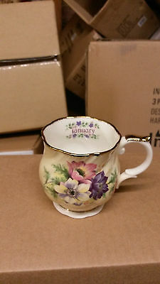Queens China Flower of the Month January Mug.