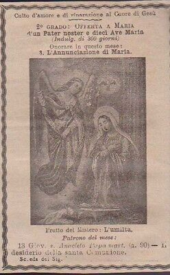 Santino 1911 L'annunciazione Di Maria Holy Card Image Pieuse Andachtsbild