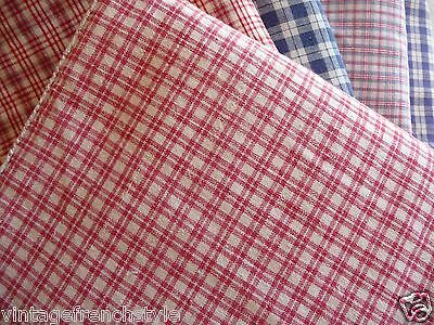 "Antique French Linen ""kelsch""  Hand Loomed Linen 19Thc Red Check Mattress Cover"