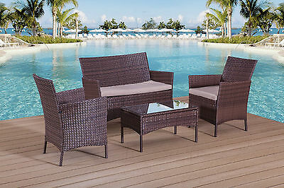Rattan Garden Furniture Set Patio Conservatory Outdoor Sofa Table And Chairs