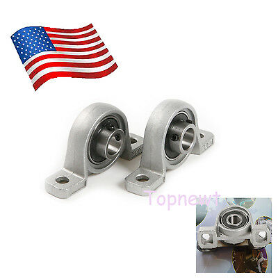 2pcs 12mm Bore Diameter Ball Bearing Pillow Block Mount  Zinc Alloy