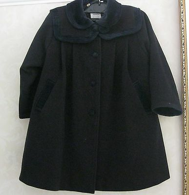 GORGEOUS NAVY BLUE PALOMINO COAT Age 4/5 with REMOVABLE VELVET COLLAR/YOLK