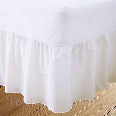 Plain Dyed Fitted Valance Sheet Poly-Cotton Bed Sheet (White) Double Size
