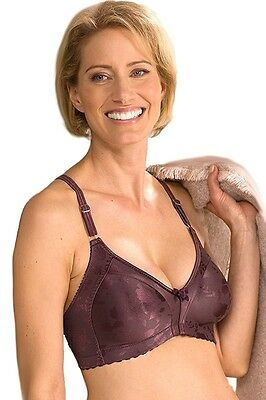 Naturana #5363 Moulded Soft Cup Wire Free Minimizer Satin Bra Support - 18B-18DD