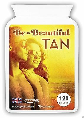 120 Bronze Sunless Tanning Tablets Safe Healthy Sun Tan Pills Vegetarian Capsule