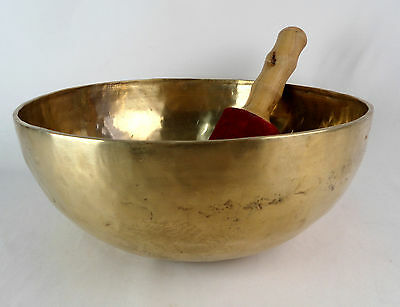 Bol chantant tibétain du Népal 3060 gr - 32,5 cm - 7 métaux  Singing Bowl