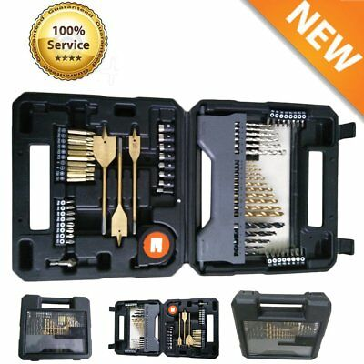 New 70Pcs Combination Drill Bits Driver Accessory Drilling Tools Set With Case