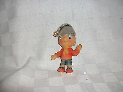 Vintage Toy Noddy with hair & Flock covered body