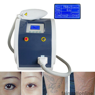 Laser Tattoo Removal System Eyebrow Pigment Removal Beauty Equipment Machine  A