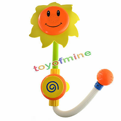 Baby Bath Toys Children Sunflower Shower Head Faucet Bath Learning Toy Gift