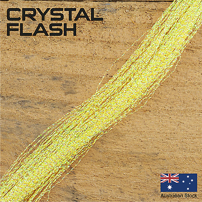 Yellow Crystal Flash - Krystal, Fly Tying Materials, Snapper, jig assist