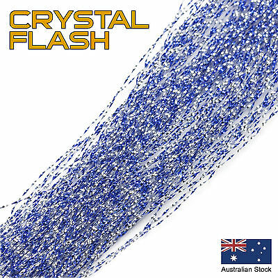 Blue Crystal Flash - Krystal, Tinsel, Fly Tying Materials, Snapper, jig assist
