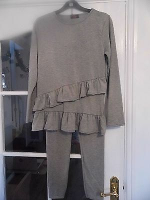 girls grey double frill outfit age 11-12