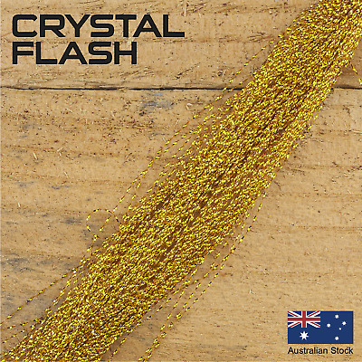 Gold Crystal Flash - Krystal, Fly Tying Materials, Snapper, jig assist