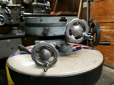 Vintage  8'' Cross Slide 3 Axis Rotary Indexing Table Machinist