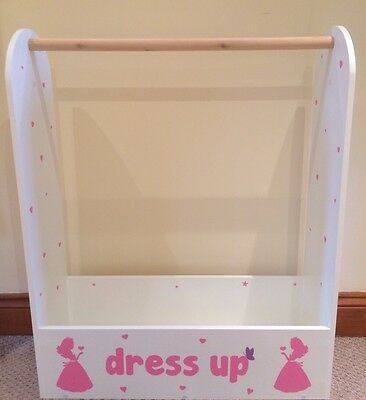 childrens Kids Baby Clothes dress up storage Costume Hanging Dressing Rail