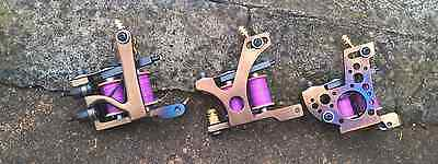 Set Of Border Tattoo Machines Liner/ Packer & Shader Iron Frames Custom Coils