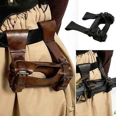LARP Leather Rogues Sword Holder - Black Or Brown - Left Or Right Handed