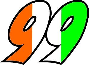 Irish Flag Race Numbers Decals - 3 Sets - Your Number