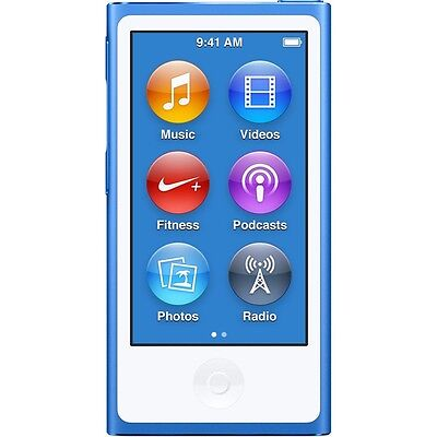 Apple iPod nano 7th Generation Blue (16GB) (Latest Model) Brand New Sealed