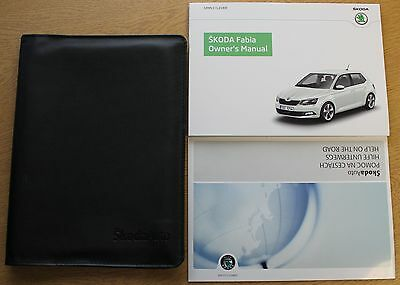 Skoda Fabia Handbook Wallet Manual 2014-2016 Pack 1820